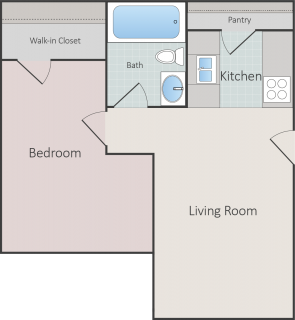 1 Bed / 1 Bath / 545 ft² / Deposit: $300 / Rent: $625