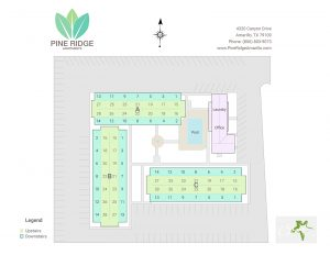Pine Ridge Apartments site map
